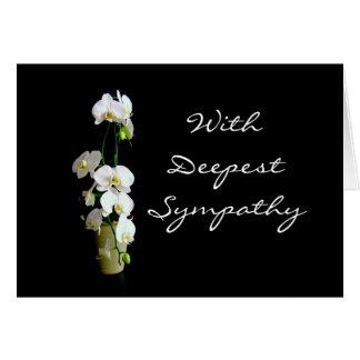 Cartes Les orchidées de blanc de sympathie les plus