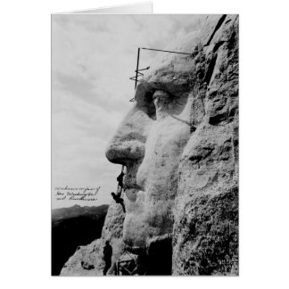 Cartes Les ouvriers sur George Washington font face au