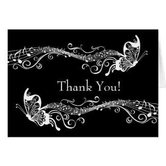 Cartes Les papillons musicaux ont personnalisé le Merci