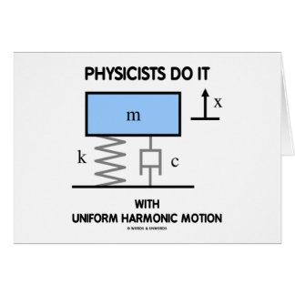 Cartes Les physiciens le font avec le mouvement