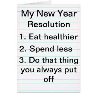 Cartes Les plans de nouvelle année allés mal cardent