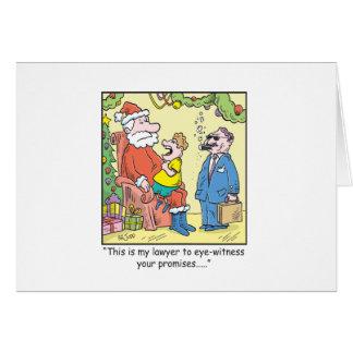 Cartes Les promesses de Père Noël de bande dessinée de