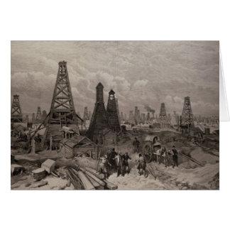 Cartes Les puits de pétrole de pétrole à Bakou sur le