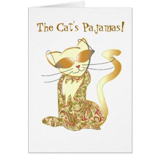 Cartes Les pyjamas du chat !