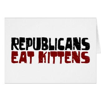 Cartes Les républicains mangent des chatons