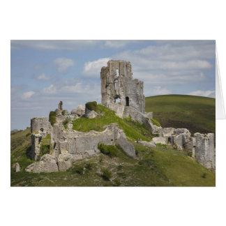 Cartes Les ruines de Corfe se retranchent, près de