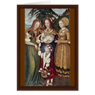 Cartes Les saints Agnès et Dorothy Kunigunde par Cranach