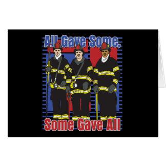 Cartes Les sapeurs-pompiers certains ont donné tous