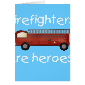 Cartes Les sapeurs-pompiers sont des héros