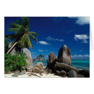 Cartes Les Seychelles, île de Mahe, plage d'Anse Royale