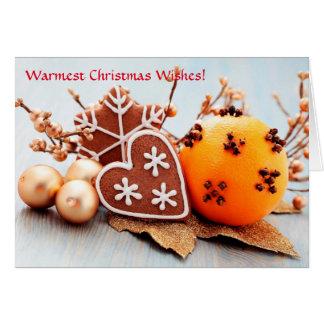Cartes Les souhaits de Noël les plus chauds