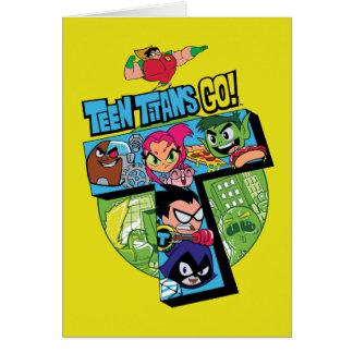 Cartes Les titans de l'adolescence vont ! collage de tour