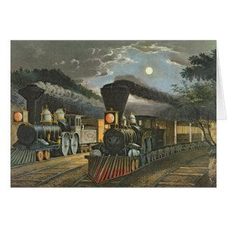 Cartes Les trains rapides de foudre, 1863