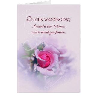 Cartes Les voeux de mariage sentimentaux d'anniversaire