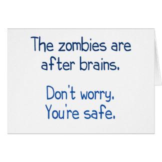 Cartes Les zombis sont après des cerveaux