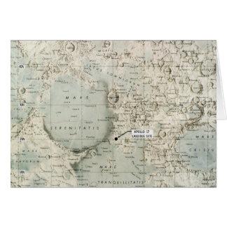 CARTES L'ESPACE : LUNE MAP, 1972