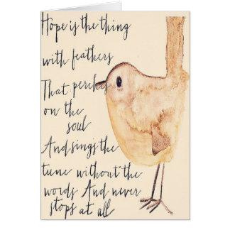Cartes L'espoir est la chose avec des plumes