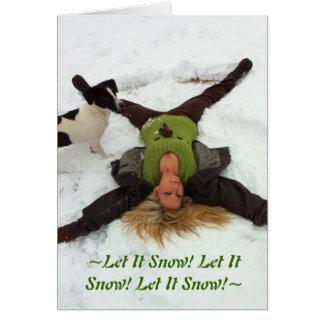 Cartes ~Let il neige ! Laissez lui neiger ! Laissez lui
