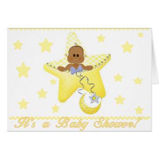 Cartes L'étoile de bébé d'Afro-américain est née