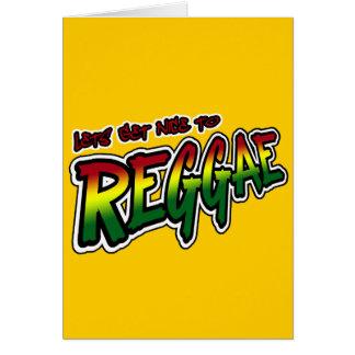 Cartes Lets deviennent gentil en musique de reggae de
