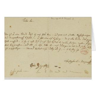 Cartes Lettre de Mozart à un franc-maçon, janvier 1786