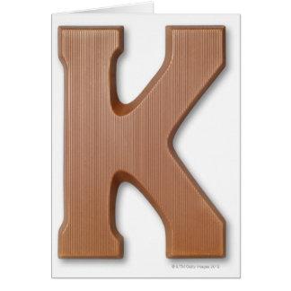 Cartes Lettre k de chocolat