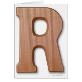 Cartes Lettre r de chocolat