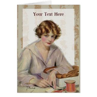 Cartes Lettre vintage d'écriture de femme à partir de