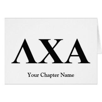 Cartes Lettres d'alpha de Chi de lambda