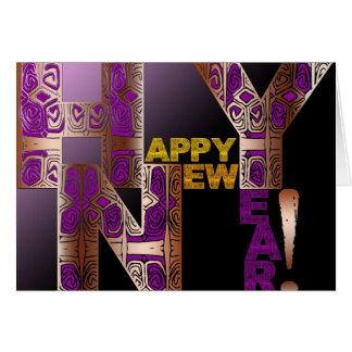 Cartes Lettres décoratives de la bonne année 2018