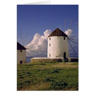 Cartes L'Europe, Grèce, Mykonos. Blanchi