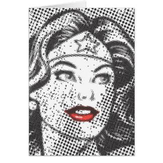 Cartes Lèvres de rouge de femme de merveille