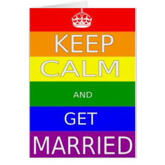 Cartes LGBT - Le mariage homosexuel maintiennent calme et