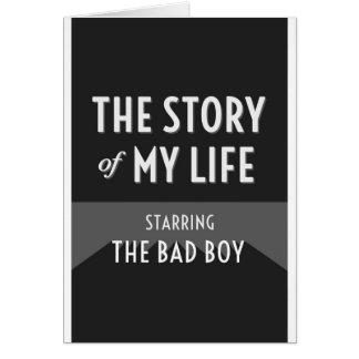 Cartes L'histoire de ma vie - le mauvais garçon