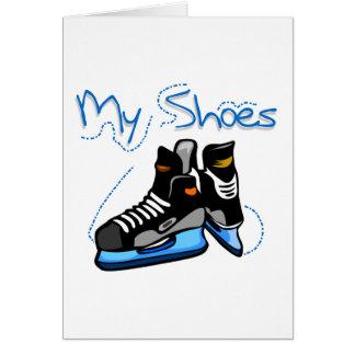 Cartes L'hockey patine mes T-shirts et cadeaux de