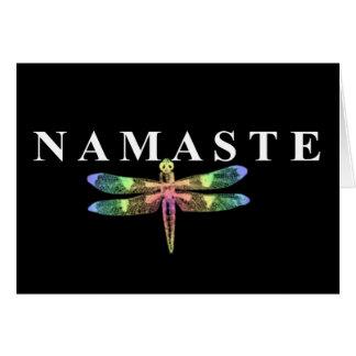Cartes Libellule de Namaste (arrière - plan foncé)