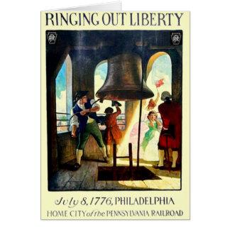 Cartes Liberté de Philadelphie sur le chemin de fer de la