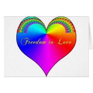 Cartes Liberté pour aimer LGBT
