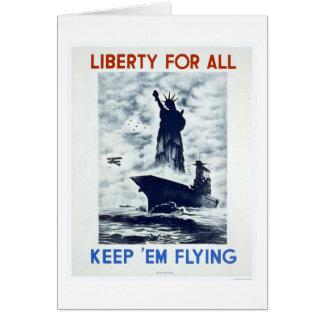 Cartes Liberté pour tout le 2ÈME GUERRE MONDIALE WPA 1942