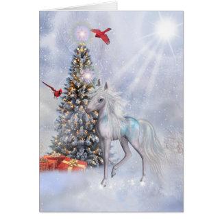Cartes Licorne de Noël dans les nuages