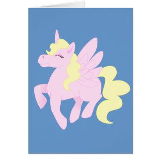 Cartes Licorne rose mignonne Pegasus (Unipeg)