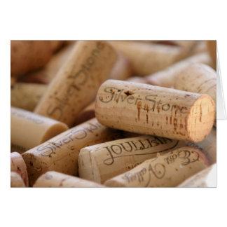 Cartes Lièges de vin