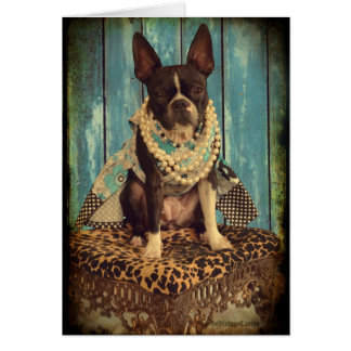 Cartes Lierre Boston Terrier