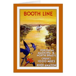 """Cartes Ligne"""" affiche vintage """"de cabine de voyage"""