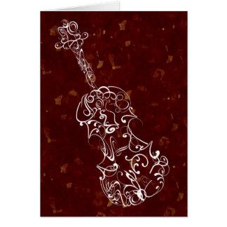 Cartes Ligne blanche dessin de violon sur l'arrière -