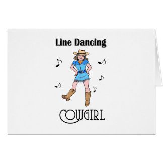 "Cartes ""Ligne occidentale cow-girl de danse """