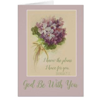 Cartes Lilas floraux vintages personnalisables