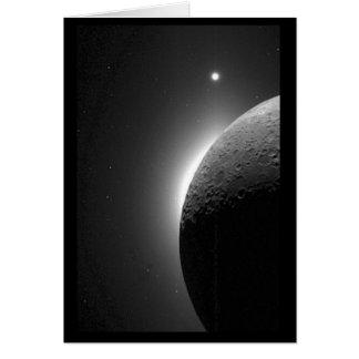Cartes L'image magnifique de la NASA, la lune s'est