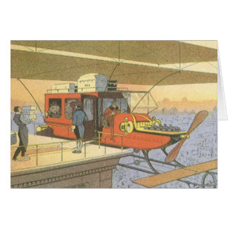 Cartes Limousine vintage d'hélicoptère d'avion de la