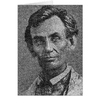 Cartes Lincoln a rendu avec l'adresse de Gettysburg